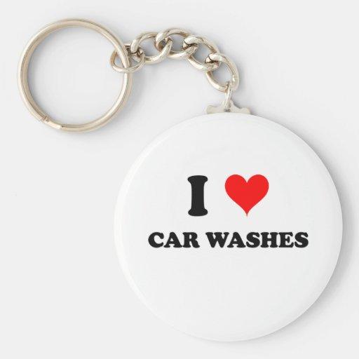 I Love Car Washes Keychains