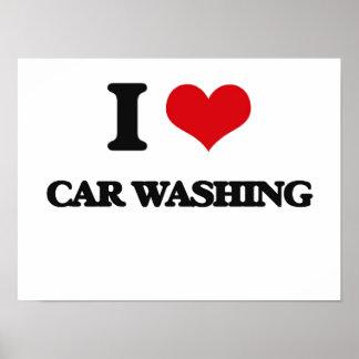 I Love Car Washing Poster