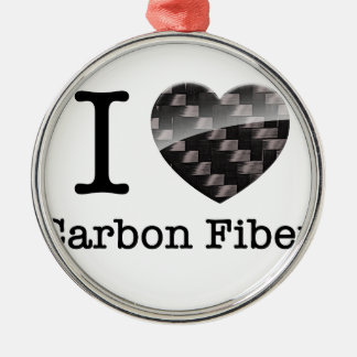 I Love Carbon Fiber Christmas Ornament