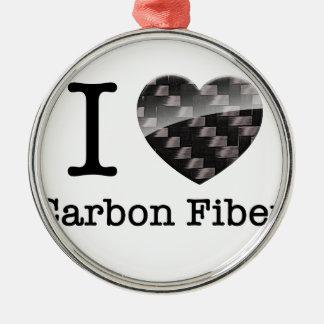 I Love Carbon Fiber Christmas Ornament