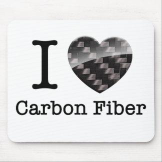 I Love Carbon Fiber Mouse Mat