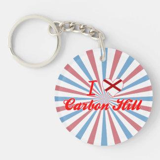 I Love Carbon Hill Alabama Keychain