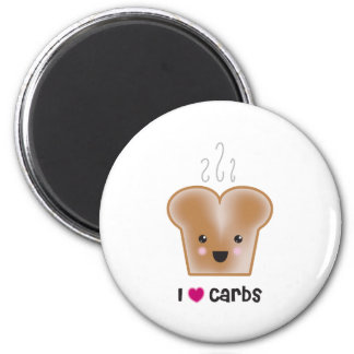 I Love Carbs 6 Cm Round Magnet