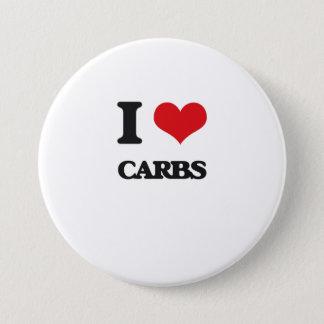I Love Carbs 7.5 Cm Round Badge