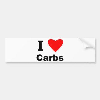I Love Carbs! Bumper Sticker