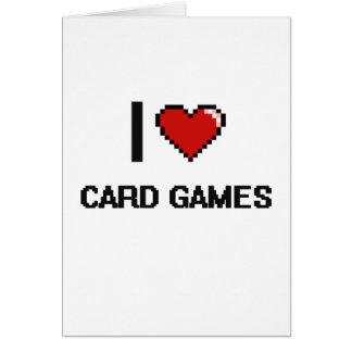 I Love Card Games Digital Retro Design
