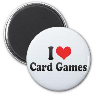 I Love Card Games Refrigerator Magnet