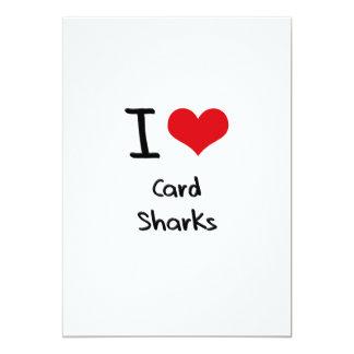 I love Card Sharks 13 Cm X 18 Cm Invitation Card
