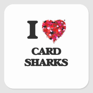 I love Card Sharks Square Sticker