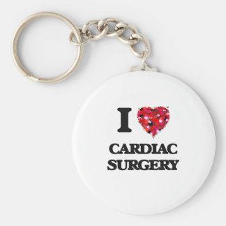 I love Cardiac Surgery Basic Round Button Key Ring
