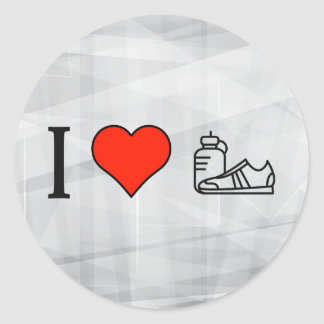 I Love Cardio Exercise Round Sticker
