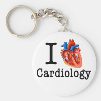 I love Cardiology Basic Round Button Key Ring