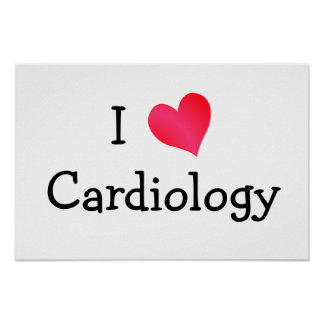 I Love Cardiology Poster