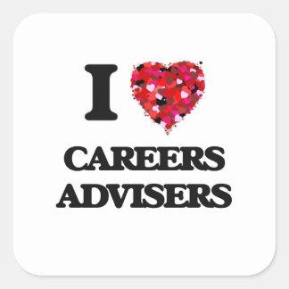 I love Careers Advisers Square Sticker