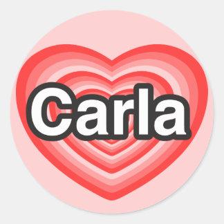 I love Carla I love you Carla Heart Stickers
