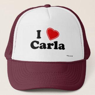 I Love Carla Trucker Hat