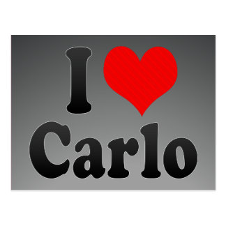 I love Carlo Postcard