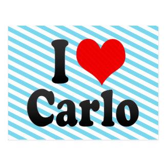 I love Carlo Post Card