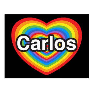 I love Carlos. I love you Carlos. Heart Post Cards