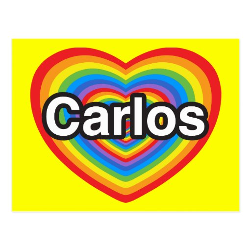 I love Carlos. I love you Carlos. Heart Postcards