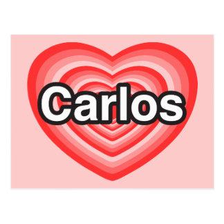 I love Carlos. I love you Carlos. Heart Post Card