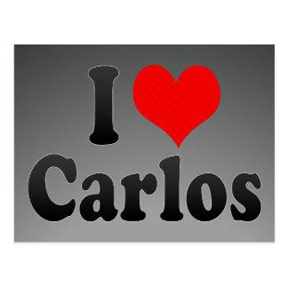 I love Carlos Postcards