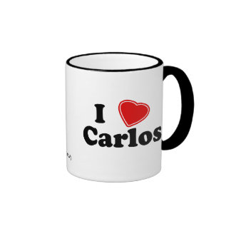I Love Carlos Ringer Mug