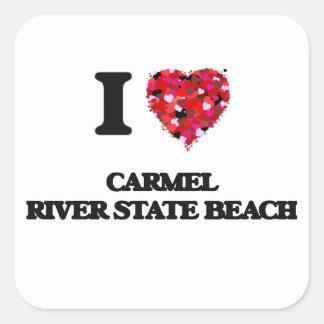I love Carmel River State Beach California Square Sticker