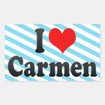 I love Carmen Stickers