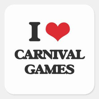 I love Carnival Games Square Sticker