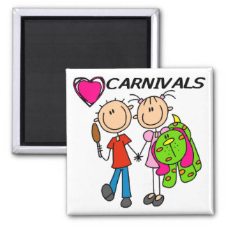I Love Carnivals Tshirts and Gifts Magnet