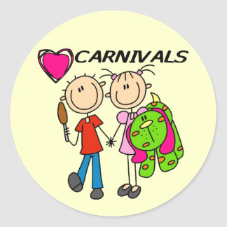 I Love Carnivals Tshirts and Gifts Round Sticker