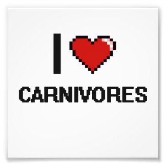 I love Carnivores Digital Design Photographic Print