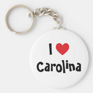 I Love Carolina Keychain