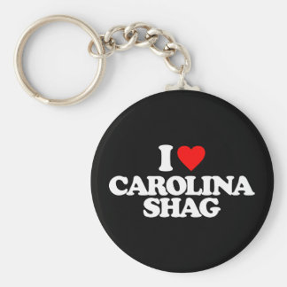 I LOVE CAROLINA SHAG BASIC ROUND BUTTON KEY RING