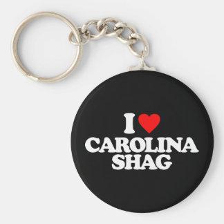 I LOVE CAROLINA SHAG KEY RING