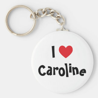 I Love Caroline Keychain