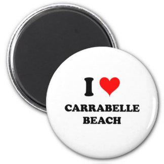 I Love Carrabelle Beach 6 Cm Round Magnet