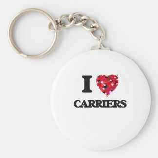 I love Carriers Basic Round Button Key Ring
