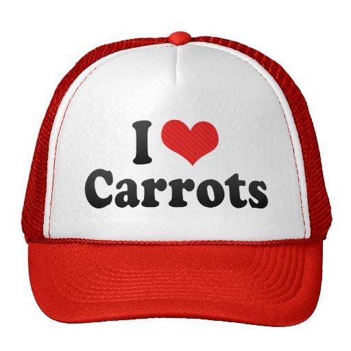 I Love Carrots Mesh Hats