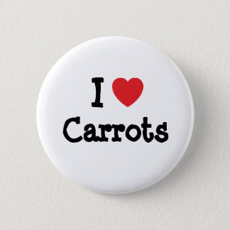 I love Carrots heart T-Shirt 6 Cm Round Badge