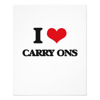 I love Carry-Ons Full Color Flyer