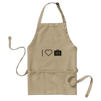 I Love Carrying Luggages Standard Apron