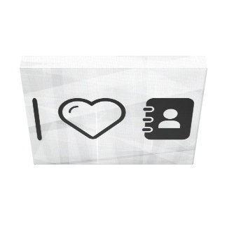 I Love Carrying Notebooks Stretched Canvas Print