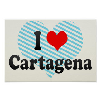 I Love Cartagena, Colombia Poster