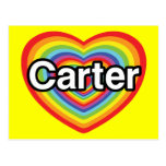 I love Carter: rainbow heart