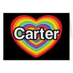 I love Carter: rainbow heart