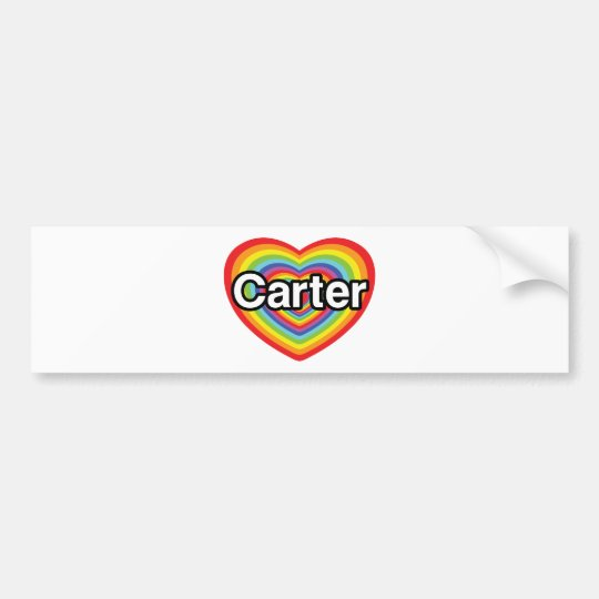 I love Carter: rainbow heart Bumper Sticker