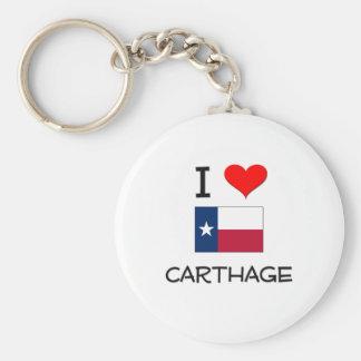 I Love Carthage Texas Basic Round Button Key Ring