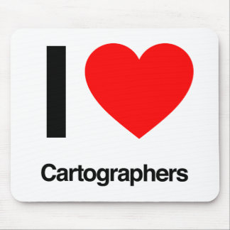 i love cartographers mouse pad